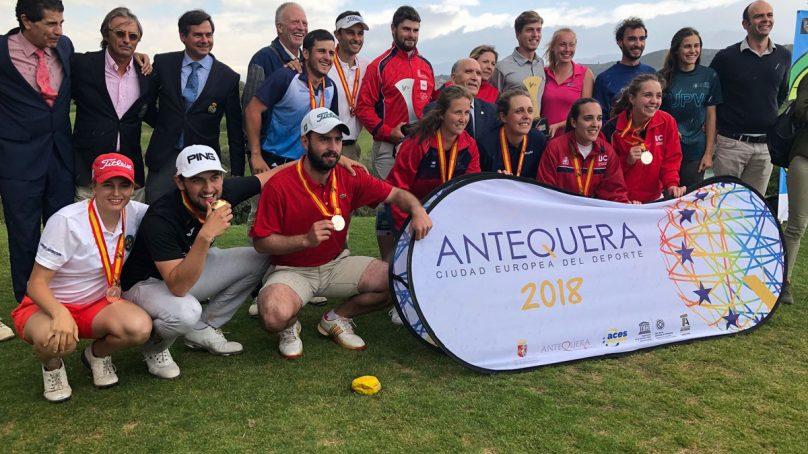 El equipo de Golf de la UMA se alza con el oro en el CEU 2018
