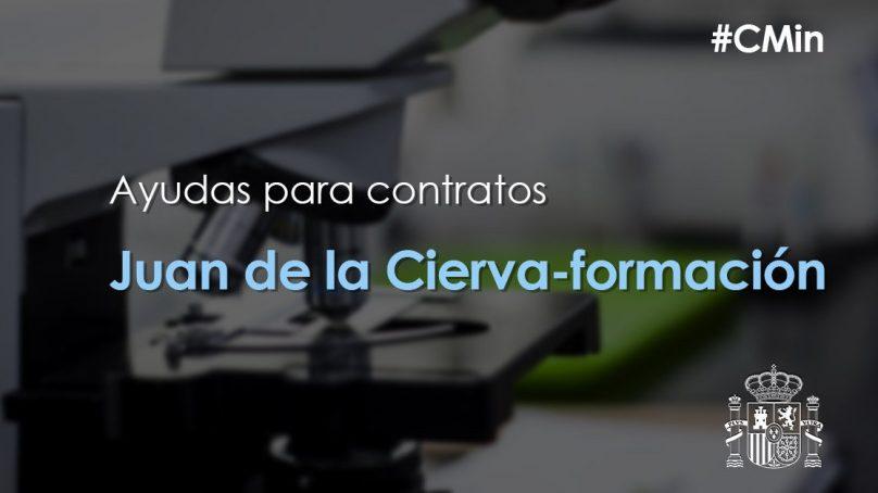 Abiertas las ayudas para contratos Juan de la Cierva
