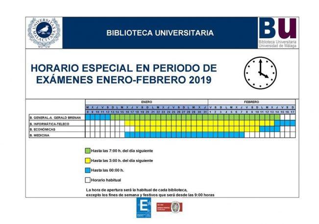 Horarios de bibliotecas en Málaga