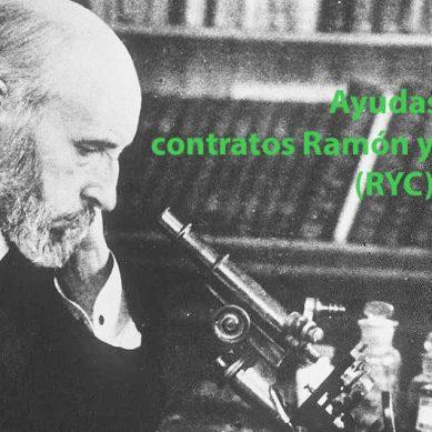 Convocadas las  Ayudas para contratos Ramón y Cajal 2018