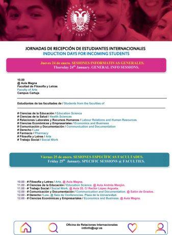 Bienvenida a los 900 estudiantes internacionales de la Universidad de Granada