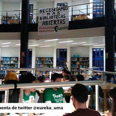 Mantas, portátiles y apuntes para pasar la noche en la biblioteca de Ciencias