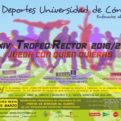 Abiertas las inscripciones para el Trofeo Rector de la UCO