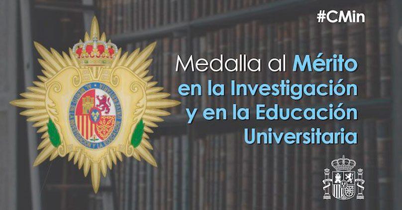 Entregadas las Medallas al Mérito en Investigación y Educación Universitaria