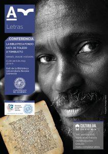 Cartel de la conferencia de Ismael Diadié Haidara en la UAL.