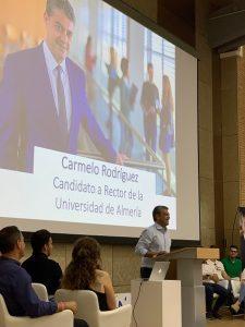 Carmelo Rodríguez estuvo muy arropado en el Auditorio UAL.