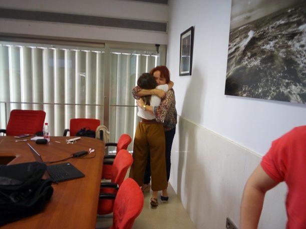 Garrido celebra la victoria en las urnas de la candidatura de Piniella