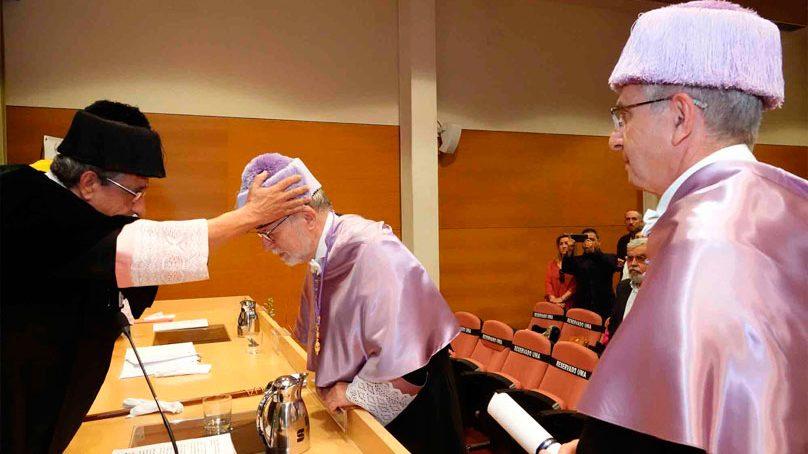 Heliodoro Carpitero, primer doctor Honoris Causa de la UMA de la Facultad de Psicología