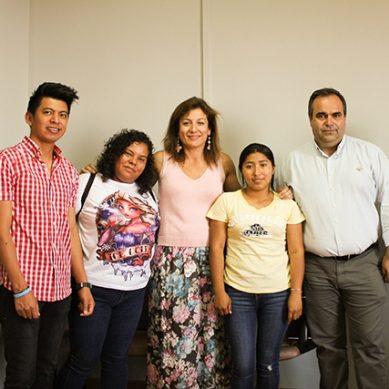 Cuatro estudiantes hondureños que terminan su experiencia en la UMA