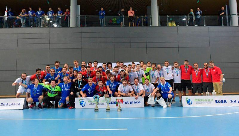 El equipo masculino de la UGR, campeón de Europa Universitarios de Balonmano