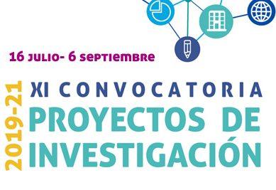 Abierto el plazo de la XI Convocatoria de Proyectos de Investigación