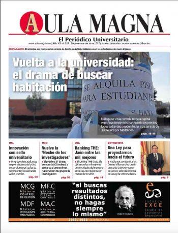 Edición local Andalucía 326 de Aula Magna septiembre de 2019. Alquileres en Málaga más inicio de curso