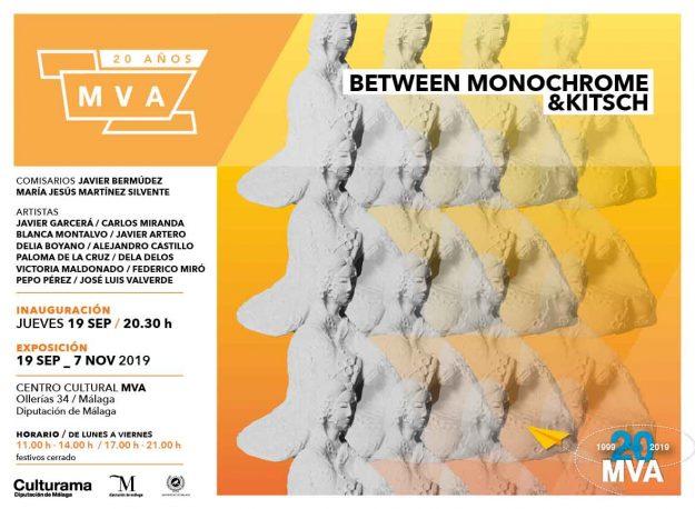 La muestra colectiva 'Between Monochrome & Kitsch' podrá visitarse en elCentro Cultural MVAhasta el próximo 7 de noviembre.