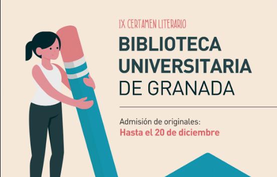 Abierto el plazo del IX Certamen Literario de la Biblioteca de la UGR