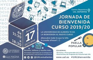 Cartel de la Jornada de Bienvenida UAL 2019/20.