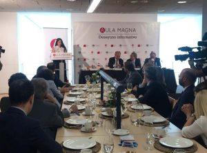 El Complejo de Estudios de Comercio y Gestión de la Universidad de Málaga ha acogido un año más el Desayuno Informativo de Aula Magna.