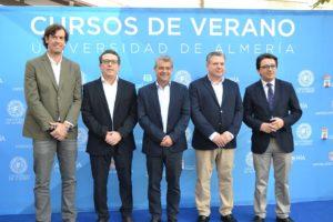 El rector junto a concejales, diputado y Cajamar.