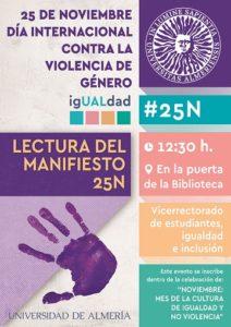 Cartel de los actos del 25N en la UAL