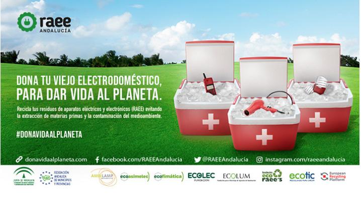 """La UGR colabora en la campaña de recogida de residuos de aparatos eléctricos y electrónicos """"Dona Vida"""""""