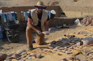 Juan Aguilera, estudiante del Grado de Historia de la UMA en Egipto