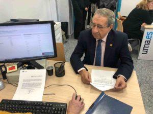 José Ángel Narváez ha presentado esta mañana una candidatura conjunta con Ernesto Pimentel para las elecciones al Rectorado de la UMA.