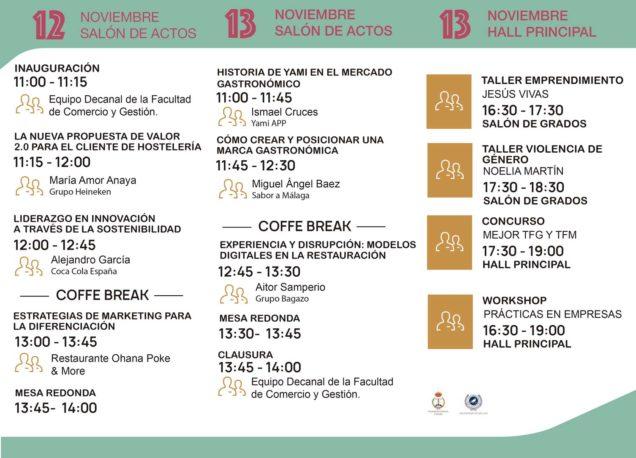 Los próximos 12 y 13 de noviembre, el centro acoge la X Semana Cultural de la Facultad de Comercio y Gestión de la UMA.
