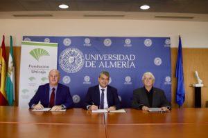 Momento de la firma entre la UAL y Fundación Unicaja