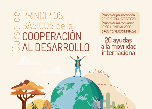 Cooperación al desarrollo, formación más 20 becas de movilidad internacional