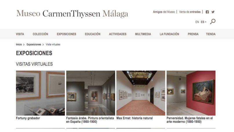 El Museo Thyssen de Málaga abre sus puertas de forma virtual