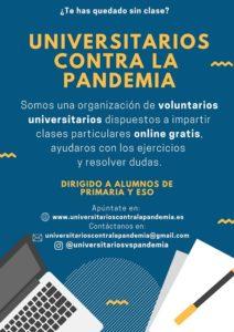 Cartel de Universitarios contra la pandemia