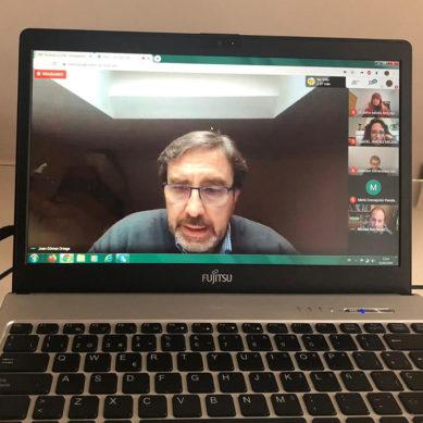 Primer encuentro telemático entre los miembros del Consejo de Gobierno de la UJA