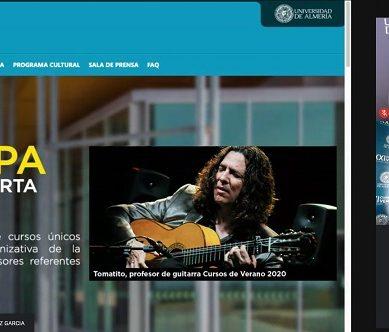 Presentados los nueve Cursos de Verano 2020 de la UAL, su primera edición íntegramente online