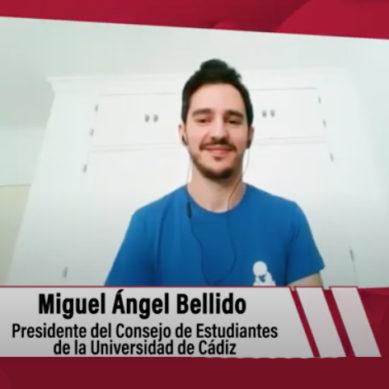 """Miguel Ángel Bellido: """"Confiamos en el equipo rectoral para que, de cara a septiembre, vayan mejorando los medios"""""""