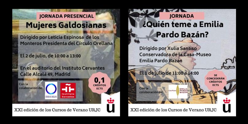 Los Cursos de Verano de la URJC homenajean a Galdón y Emilia Pardo