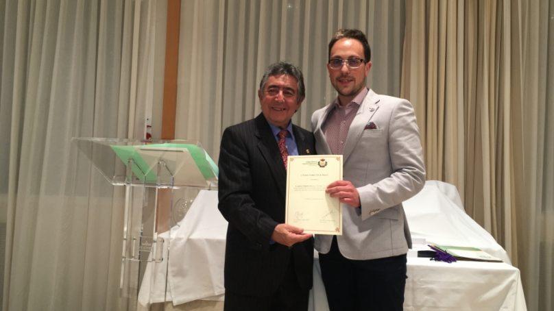 Gabriel Delgado, I Premio Trabajo Fin de Máster del Colegio Oficial de Ingenieros Agrónomos de Andalucía