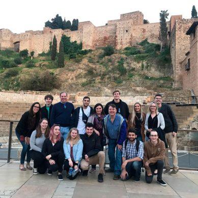 Un grupo de estudiantes de la Universidad de West Chester elige Málaga para desarrollar sus proyectos