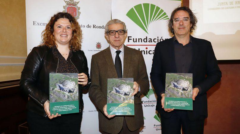 Fundación Unicaja Ronda respalda un proyecto para la protección y revalorización del yacimiento arqueológico de Acinipo