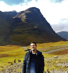 José Javier en las Highlands escocesas.