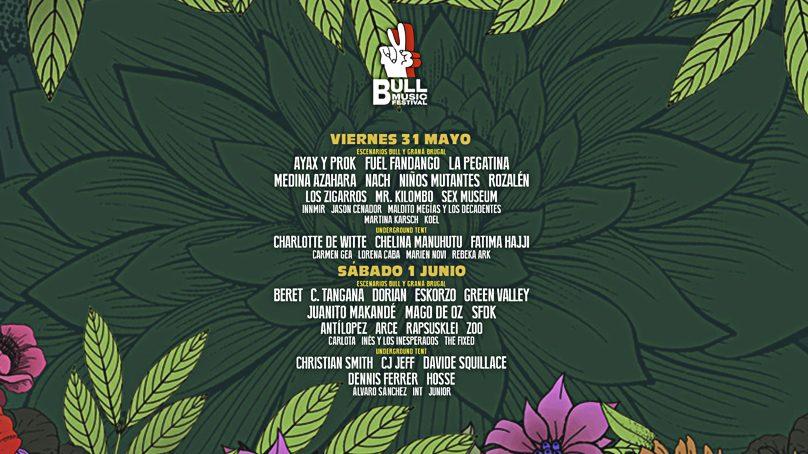 Consigue uno de los 3 abonos dobles para el Bull Music Festival