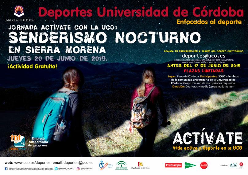 Senderismo nocturno por Sierra Morena con la UCO