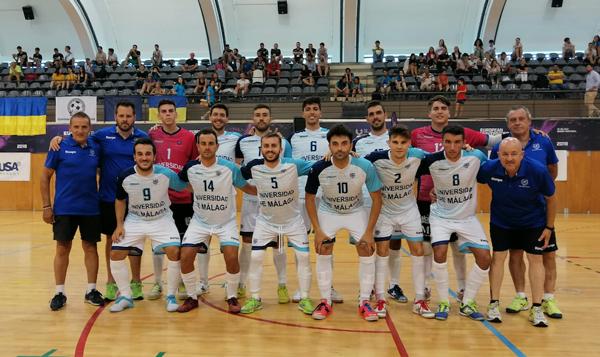 La selección de fútbol sala de la Universidad de Málaga ha revalidado la medalla de oro en el Campeonato de Europa Universitario de futsal