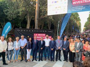 Rector y autoridades inauguran la VIII Noche Europea de los Investigadores.