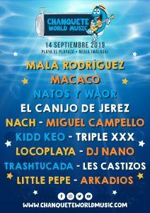 El próximo sábado 14 de septiembre Chanquete World Music volverá a llenar de música la localidad de Nerja para despedir el verano.
