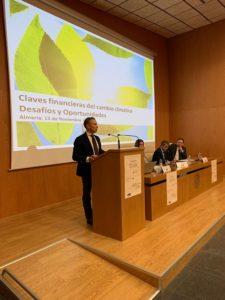 Manuel Gómez durante su conferencia.