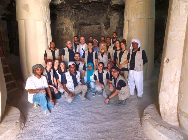 Proyecto Visir Amen-Hotep Huy Luxor (Egipto), dirigido por el doctor Francisco Martín-Valentín y la profesora Teresa Bedman.