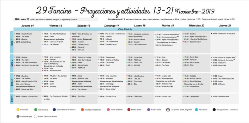 fancine 2019 Universidad de Málaga