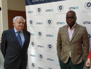 El periodista liberiano Rodney Sieh ha recibido hoy el X Premio Internacional Libertad de Prensa de la Universidad de Málaga