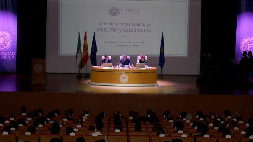 Reconocimiento de la UAL a la labor del PAS, PDI y de sus estudiantes