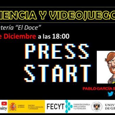 'Ciencia y videojuegos' de Coffeeversity pone fin a este año con una ponencia del profesor Pablo García Sánchez