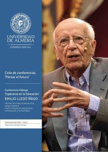 Cartel anunciador de la conferencia de Emilio Lledó